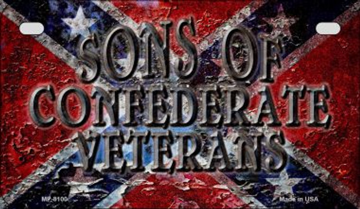 Sons of Confederate Veterans Novelty Wholesale Motorcycle License Plate MP-8100
