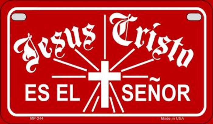Jesus Cristo Es El Senor Novelty Wholesale Motorcycle License Plate MP-244