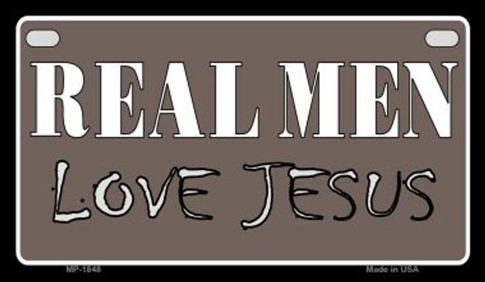 Real Men Love Jesus Novelty Wholesale Motorcycle License Plate MP-1848
