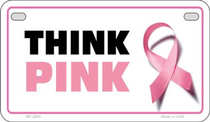 Think Pink Novelty Wholesale Motorcycle License Plate MP-2895