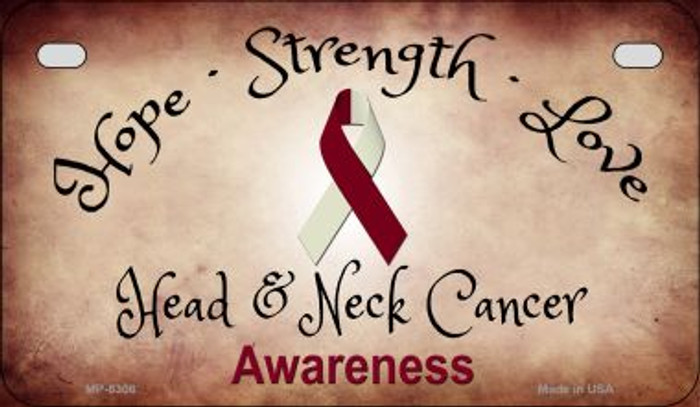 Head and Neck Cancer Ribbon Novelty Wholesale Motorcycle License Plate MP-8308