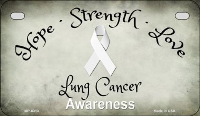 Lung Cancer Ribbon Novelty Wholesale Motorcycle License Plate MP-8313