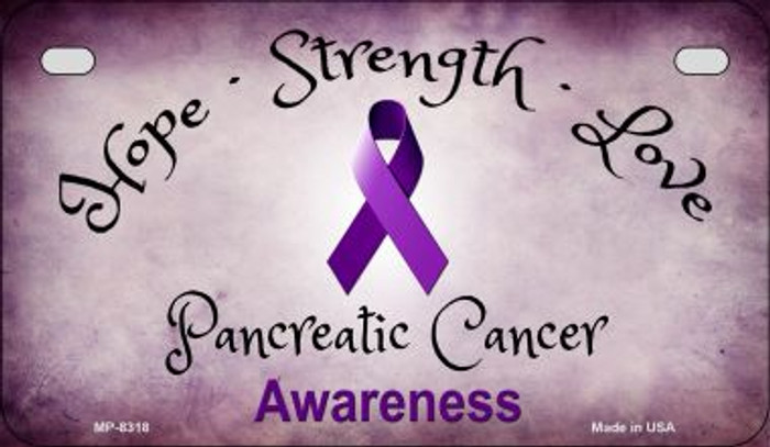 Pancreatic Cancer Ribbon Novelty Wholesale Motorcycle License Plate MP-8318