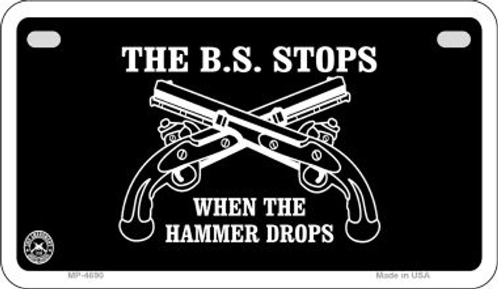 The BS Stops Wholesale Motorcycle License Plate MP-4690