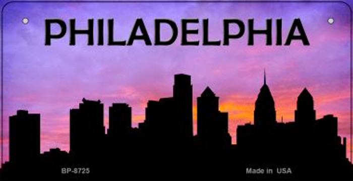 Philadelphia Silhouette Wholesale Bicycle License Plate BP-8725