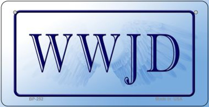 WWJD Novelty Wholesale Bicycle License Plate BP-252