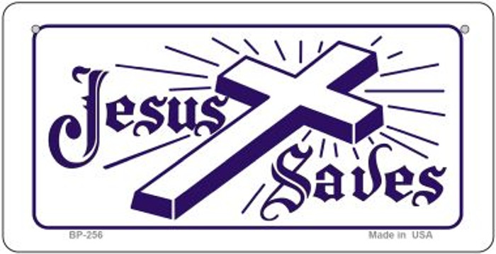 Jesus Saves Novelty Wholesale Bicycle License Plate BP-256