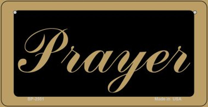 Prayer Novelty Wholesale Bicycle License Plate BP-2551
