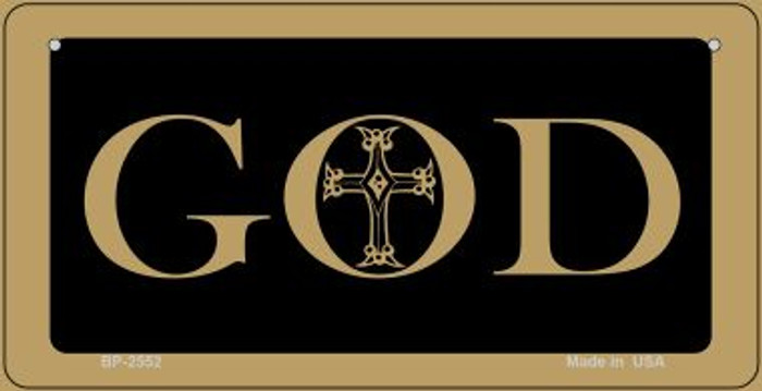 God Novelty Wholesale Bicycle License Plate BP-2552