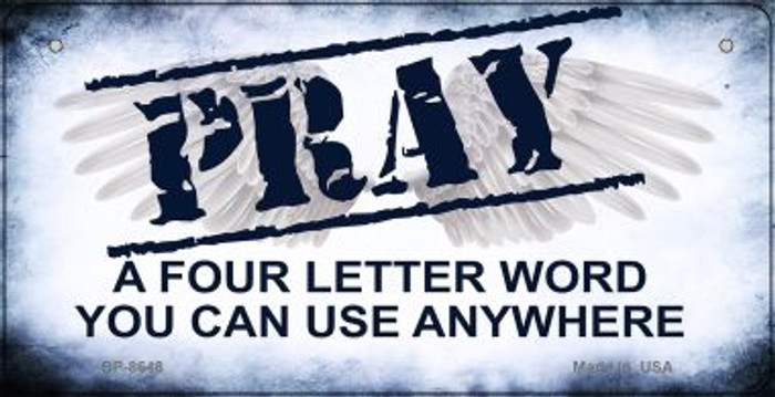 Pray Novelty Wholesale Bicycle License Plate BP-8648