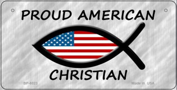 Proud American Christian Novelty Wholesale Bicycle License Plate BP-8023