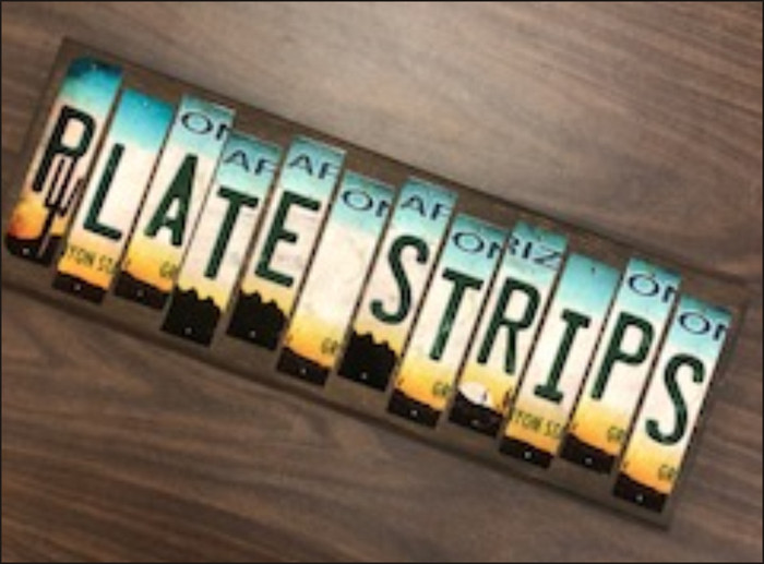 Novelty Wholesale Cut License Plate Strips (376 Strips) LPS-PACK-05