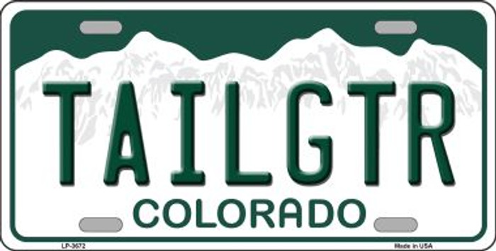 Tailgtr Colorado Novelty Wholesale Metal License Plate
