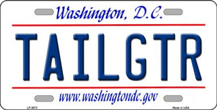 Tailgtr Washington DC Novelty Wholesale Metal License Plate