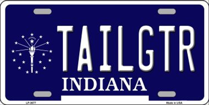 Tailgtr Indiana Novelty Wholesale Metal License Plate LP-3677