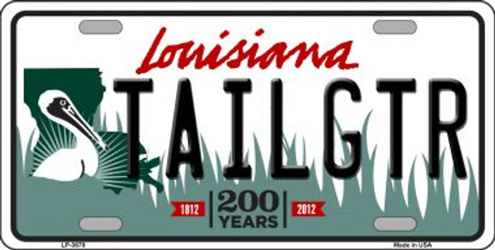 Tailgtr Louisiana Novelty Wholesale Metal License Plate