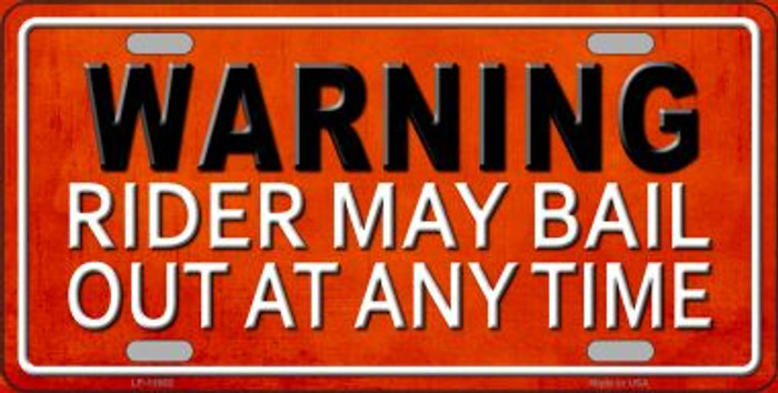 Rider May Bail Wholesale Novelty License Plate LP-11662