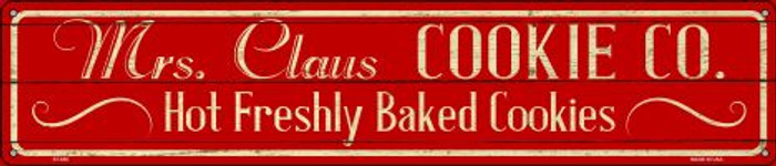 Mrs Claus Cookie Co Wholesale Novelty Metal Street Sign ST-650