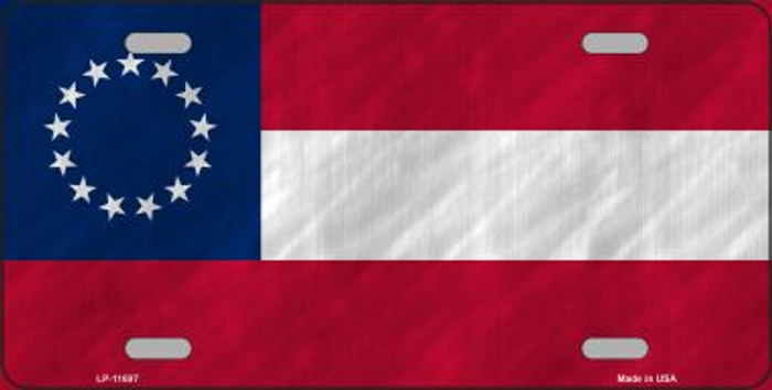 First Confederate Flag 13 Stars Wholesale Novelty License Plate LP-11697