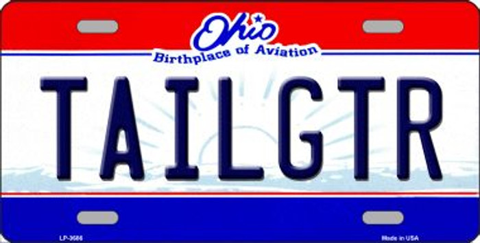 Tailgtr Ohio State Novelty Wholesale Metal License Plate