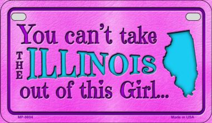 Illinois Girl Wholesale Motorcycle License Plate MP-9804