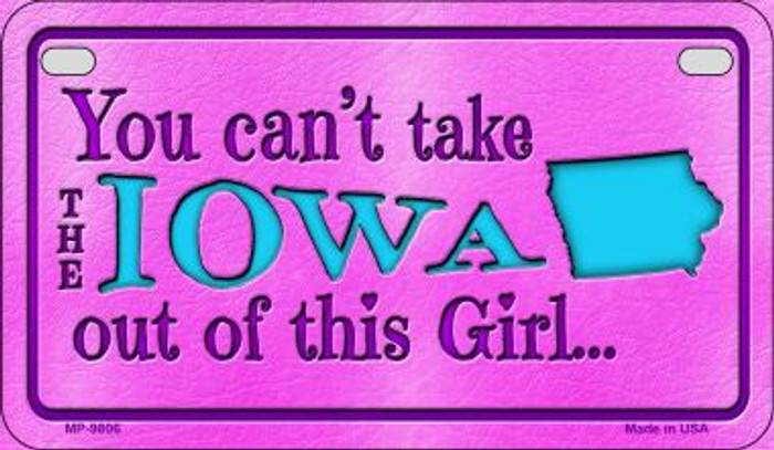 Iowa Girl Wholesale Motorcycle License Plate MP-9806