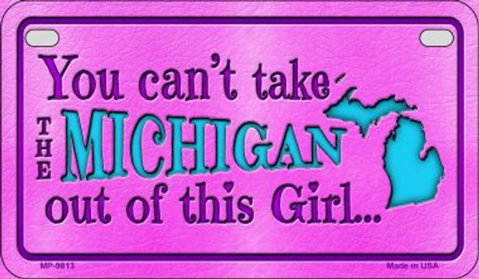 Michigan Girl Wholesale Motorcycle License Plate MP-9813