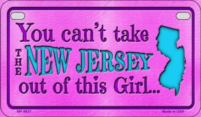 New Jersey Girl Wholesale Motorcycle License Plate MP-9821