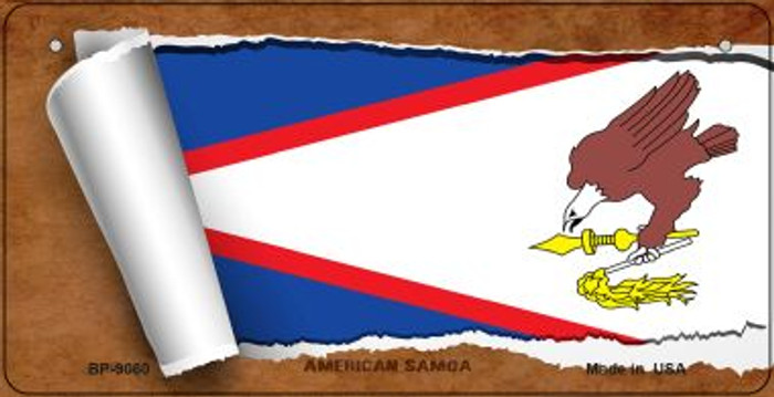 American Samoa Flag Scroll Wholesale Novelty Bicycle Plate BP-9060