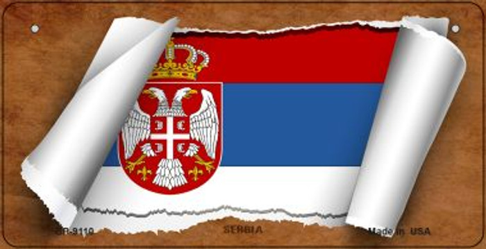 Serbia / Eagle Flag Scroll Wholesale Novelty Bicycle Plate BP-9110