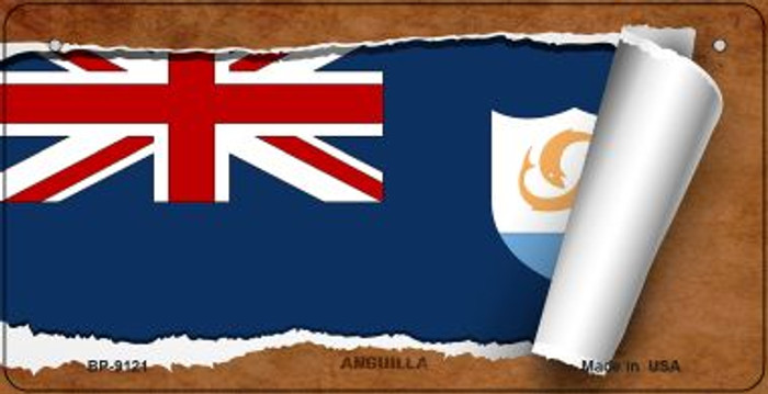 Anguilla Flag Scroll Wholesale Novelty Bicycle Plate BP-9121