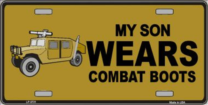Son Wears Combat Boots Wholesale Metal Novelty License Plate