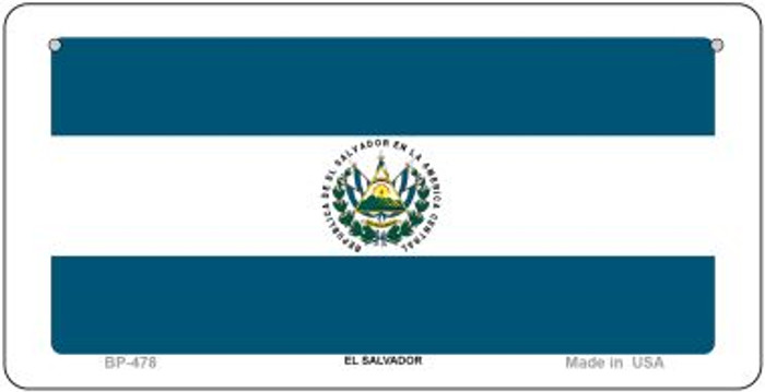 El Salvador Flag Wholesale Novelty Bicycle Plate BP-478
