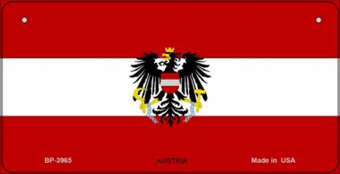 Austria Flag Wholesale Novelty Bicycle Plate BP-3965