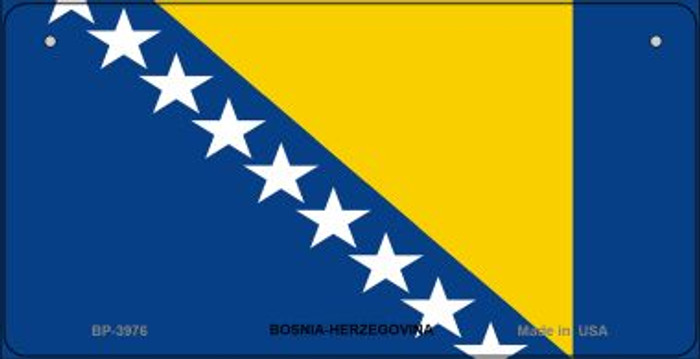 Bosnia-Herzegovina Flag Wholesale Novelty Bicycle Plate BP-3976