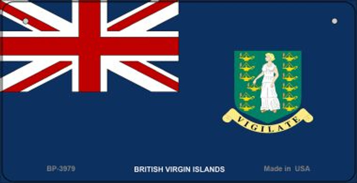 British Virgin Island Flag Wholesale Novelty Bicycle Plate BP-3979
