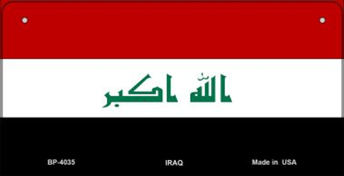 Iraq Flag Wholesale Novelty Bicycle Plate BP-4035