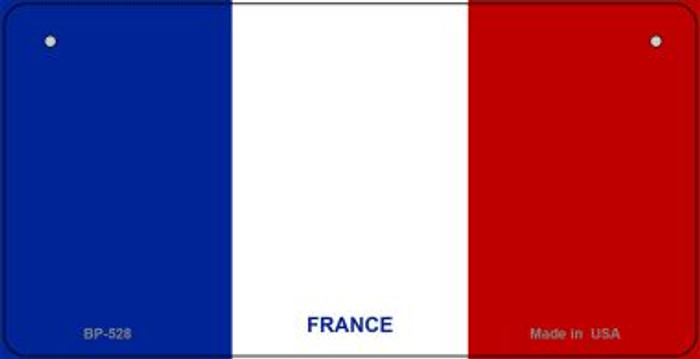 France Flag Wholesale Novelty Bicycle Plate BP-528