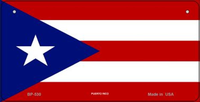 Puerto Rico Flag Wholesale Novelty Bicycle Plate BP-530
