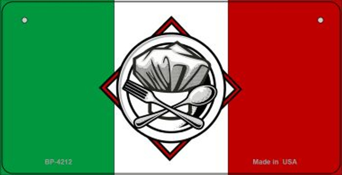 Italy / Chef Flag Wholesale Novelty Bicycle Plate BP-4212