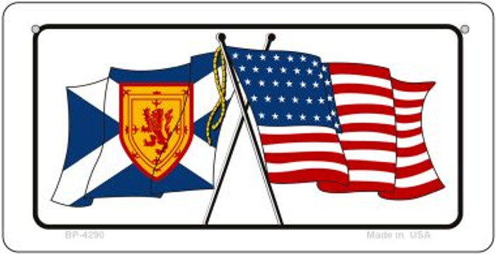 Scotland / USA Flag Wholesale Novelty Bicycle Plate BP-4290
