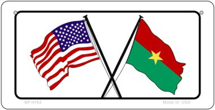 USA / Burkina Faso Flag Wholesale Novelty Bicycle Plate BP-4763