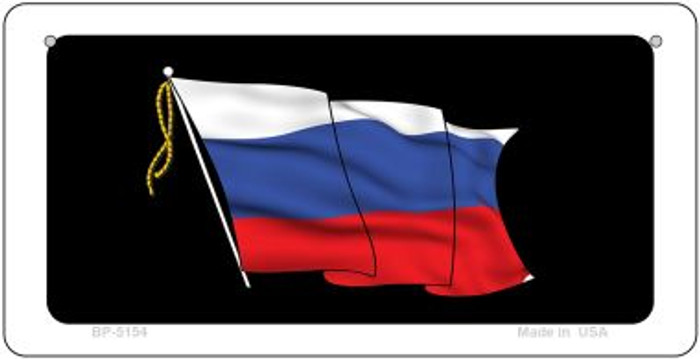 Russian Waving Flag Flag Wholesale Novelty Bicycle Plate BP-5154