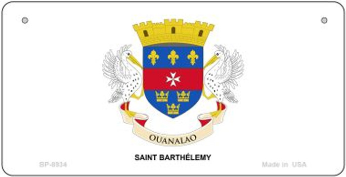 Saint Barthelemy Flag Wholesale Novelty Bicycle Plate BP-8934