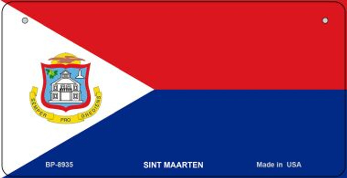 Sint Maarten Flag Wholesale Novelty Bicycle Plate BP-8935