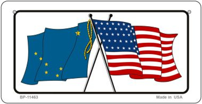 Alaska / USA Flag Wholesale Novelty Bicycle Plate BP-11463