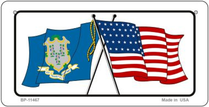Connecticut / USA Flag Wholesale Novelty Bicycle Plate BP-11467