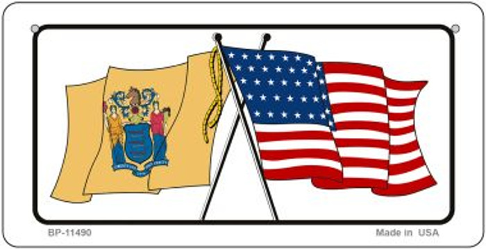 New Jersey / USA Flag Wholesale Novelty Bicycle Plate BP-11490