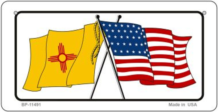 New Mexico / USA Flag Wholesale Novelty Bicycle Plate BP-11491