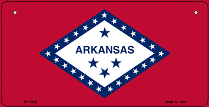 Arkansas Flag Wholesale Novelty Bicycle Plate BP-3568